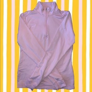 ☆pink nike dri-fit pullover zip ☆